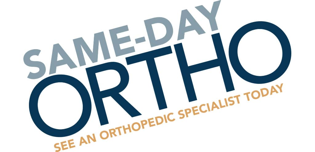 Same Day Ortho header message