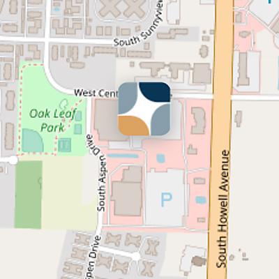 Oak Creek map